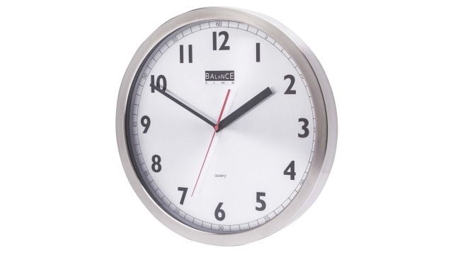Balance 506740 Wall Clock 40 Cm Analogue Aluminum