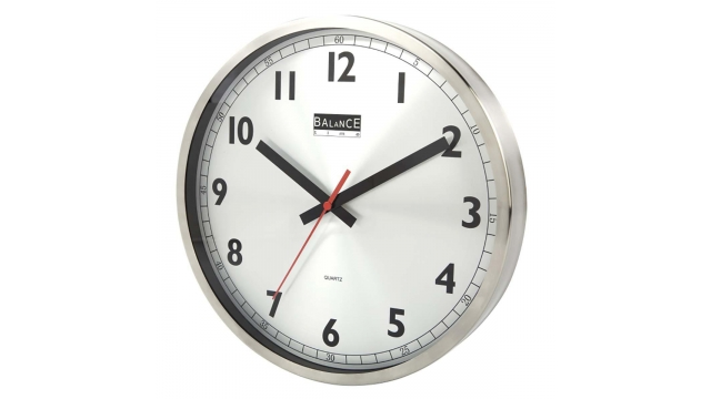 Balance 506575 Wall Clock 30 Cm Analogue Aluminum