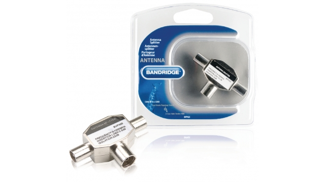 Bandridge BVP425 Coax Adapter 2x Coaxconnector Male (iec) - Coax Female (iec) Zilver