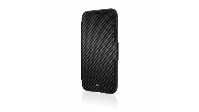 Black Rock Booklet Flex Carbon Robust Voor Apple IPhone Xr Zwart