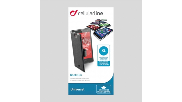 "Cellular Line Cell Bookcase Universeel Zwart 4.2"" Xl"