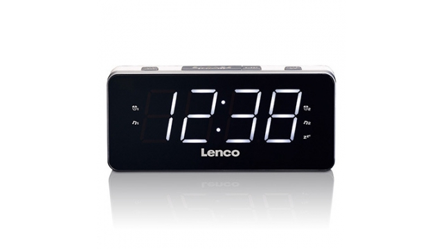 Lenco CR-18 Wekkerradio Wit