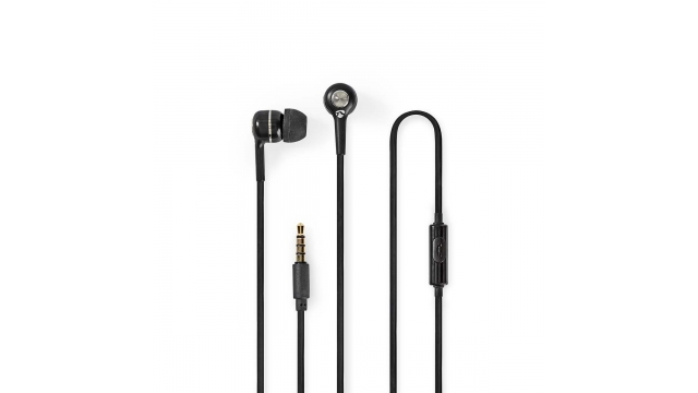 Nedis HPWD2020BK Wired Headphones 1.2m Round Cable In-ear Built-in Microphone Black