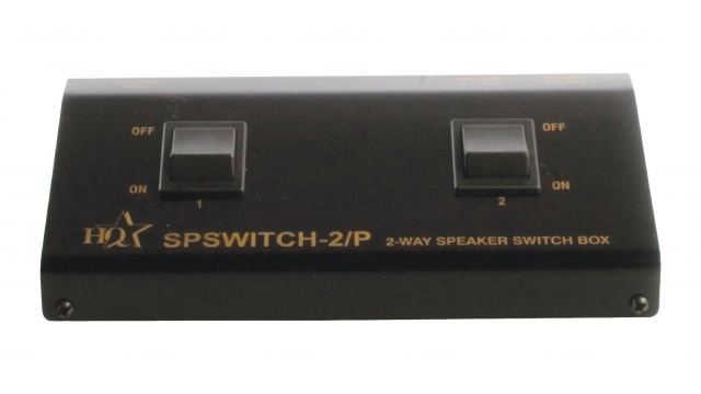 Valueline SPSWITCH-2/P Analoge Audio Schakelaar 2x (2x Clip Female) - 2x Clip Female Zwart